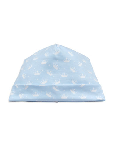 Kissy Kissy Royalty Graphic Cotton Hat-BLUE-Small