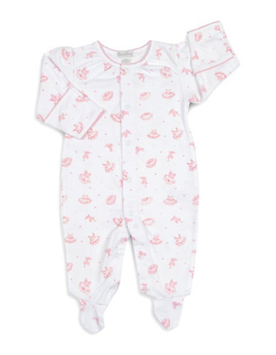 Kissy Kissy Tiny Tutus Cotton Footies-WHITE-0-6 Months