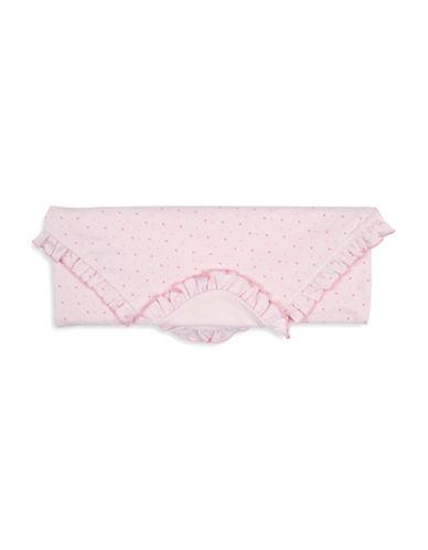 Kissy Kissy Tiny Tutus Ruffle Cotton Blanket-PINK-One Size