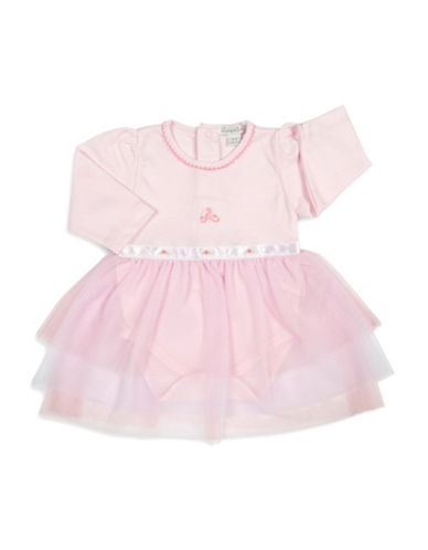 Kissy Kissy Tiny Tutus Embroidered Dress-PINK-3-6 Months