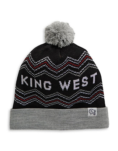 Tuck Shop Co. King West Knit Hat-BLACK-One Size
