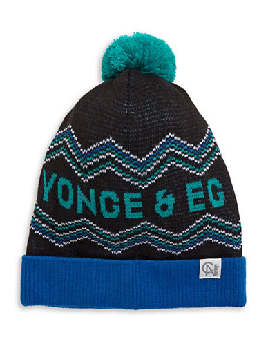 Tuck Shop Co. Yonge and Eg Knit Hat-BLACK-One Size