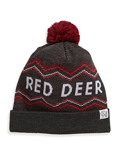 Tuck Shop Co. Red Deer Knit Hat-GREY-One Size