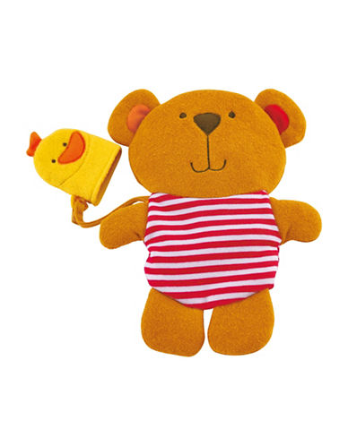 Hape Toys Teddy And Duck Bath Mitt Set-MULTI-One Size