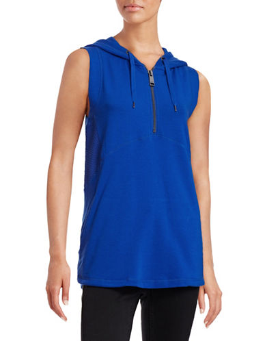 Marc New York Performance Sleeveless Half-Zip Mesh Hoodie-BLUE-Medium 88323889_BLUE_Medium