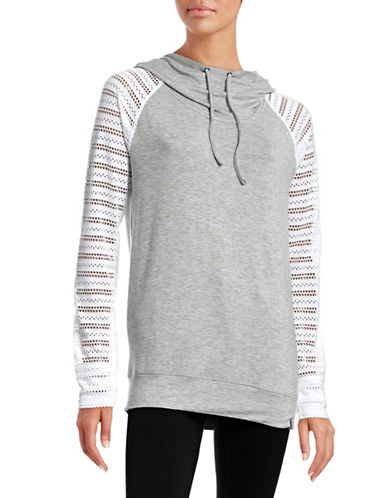 Marc New York Performance Eyelet Sleeve Hoodie-GREY-Large 88323913_GREY_Large