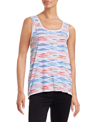 Marc New York Performance Printed Hi-Lo Tank Top-ORANGE-Medium 88323909_ORANGE_Medium