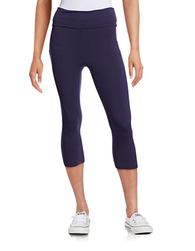 Marc New York Performance Foldover Performance Capris-BLUE-Small