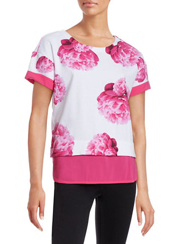 Marc New York Performance Mix-Media Floral Sweater-PINK-Large 88297223_PINK_Large