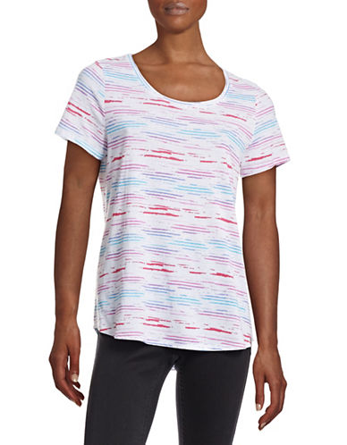 Marc New York Performance Multicolour Stripe Tee-PINK-Large 88390624_PINK_Large
