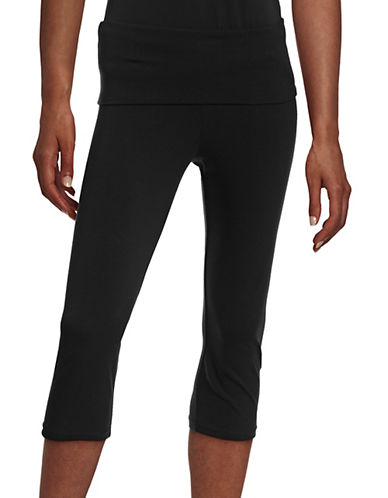 Marc New York Performance Foldover Performance Capris-BLACK-Medium
