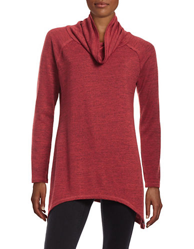 Marc New York Performance Marled Cowl Sharkbite Sweater-RED-Large 88131685_RED_Large