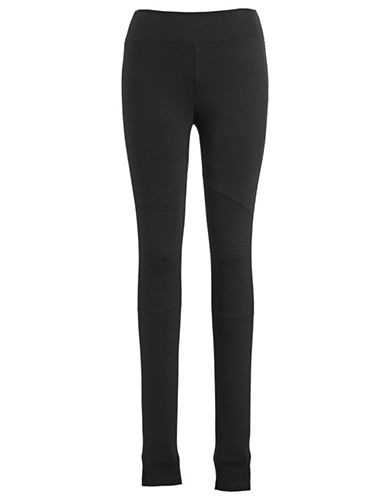 Marc New York Performance Ponte Moto Leggings-BLACK-Large 87899233_BLACK_Large