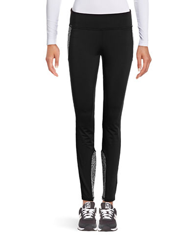 Marc New York Performance Marl-Panelled Leggings-BLACK-Large 88657648_BLACK_Large