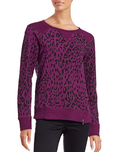 Marc New York Performance Knit Crew Neck Top-PURPLE-Large 88657656_PURPLE_Large