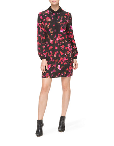 Marc New York Floral Print Shirt Dress-RED-8 87844312_RED_8