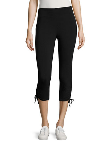 Marc New York Performance Cropped Drawstring Leggings-BLACK-Large 89020003_BLACK_Large