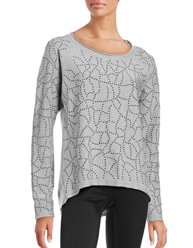 Marc New York Performance Studded Hi-Lo Sweatshirt-GREY-Medium 88554140_GREY_Medium