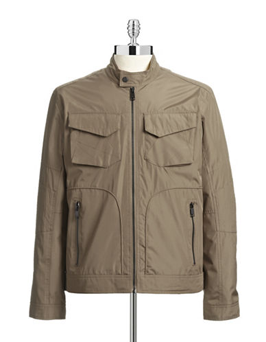 Andrew Marc Water-Resistant Moto Jacket-BROWN-X-Large 87399054_BROWN_X-Large
