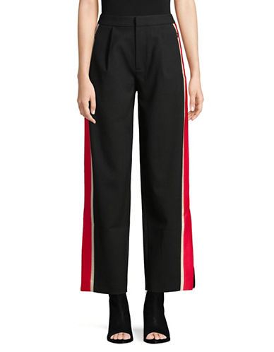 Mo&Co. Edition10 Colourblocked Wide-Legged Pants-BLACK-Medium 89838031_BLACK_Medium