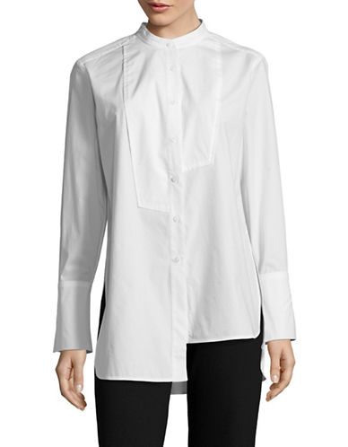 Mo & Co Classic Button-Down Shirt-SNOW WHITE-Small