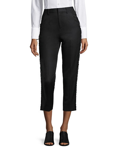 Mo & Co Slim Sateen Chino Pants-BLACK-X-Small