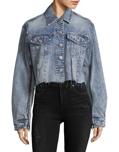 Mo & Co Washed Denim Jacket-LIGHT DENIM-X-Large