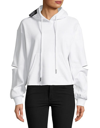 Mo & Co Elbow Cut-Out Hoodie-WHITE-Small 89962245_WHITE_Small