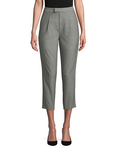 Mo & Co Striped Paperbag Pants-GREY-X-Large 89962193_GREY_X-Large