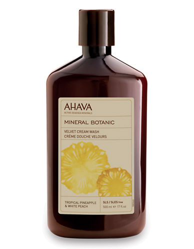 Ahava Mineral Botanic Cream Wash - Pineapple and Peach-NO COLOUR-500 ml