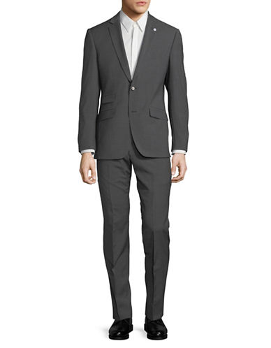 Ted Baker No Ordinary Joe Joey Pinstripe Wool Suit-GREY-42 Regular
