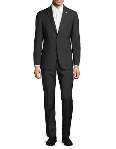 Ted Baker No Ordinary Joe Joey Wool Suit-BLACK-38 Short