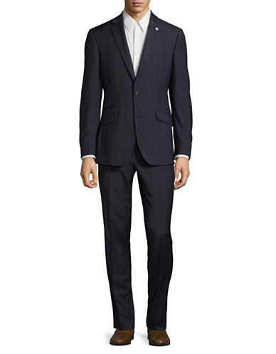 Ted Baker No Ordinary Joe Joey Wool Suit-NAVY-40 Tall