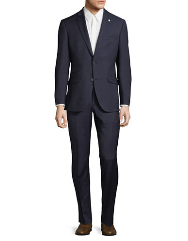 Ted Baker No Ordinary Joe Joey Wool Suit-NAVY-46 Tall