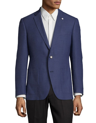 Ted Baker No Ordinary Joe Wool-Blend Two Button Blazer-NAVY-42 Regular