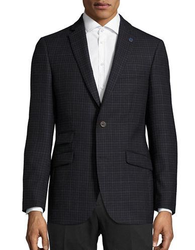 Ted Baker No Ordinary Joe Joey Checkered Wool Sports Jacket-BLACK-36 Regular