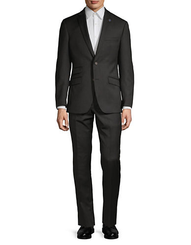 Ted Baker No Ordinary Joe Joey Grid Check Wool Suit-BLACK-38 Short