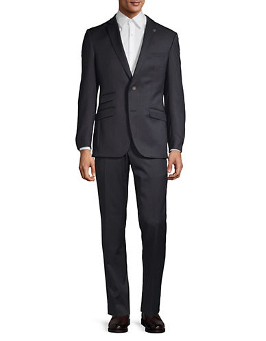 Ted Baker No Ordinary Joe Joey Grid Check Wool Suit-NAVY-44 Short