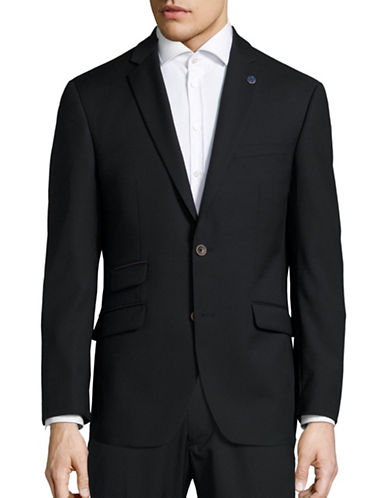Ted Baker No Ordinary Joe Joey Textured Wool Suit Jacket-BLACK-42 Regular