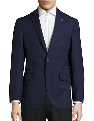 Ted Baker No Ordinary Joe Joey Textured Wool Suit Jacket-BLUE-40 Regular