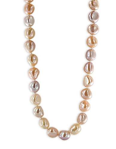 Miscellaneous 8.5 MM-9.5MM Freshwater Cultured Pearl and Yellow Gold Necklace-MULTI-One Size