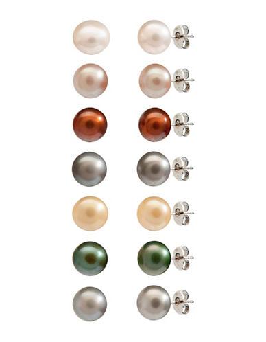 Fine Jewellery Sterling Silver Stud Earrings Set-ASSORTED-One Size