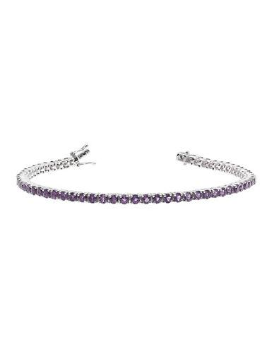 Fine Jewellery Amethyst and Sterling Silver Tennis Bracelet-AMETHYST-One Size