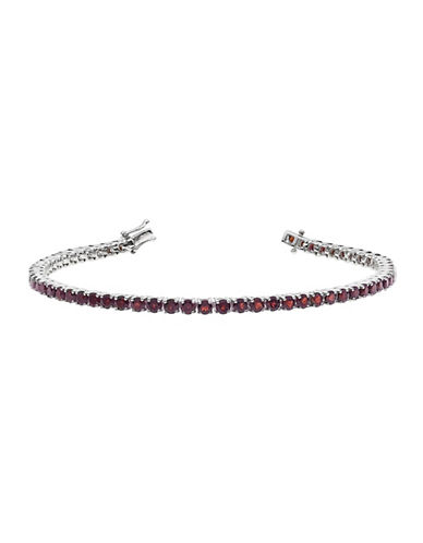 Fine Jewellery Garnet and Sterling Silver Tennis Bracelet-GARNET-One Size