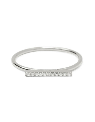 Fine Jewellery Limoges Pave Bar Ring with 0.06 TCW Diamonds-DIAMOND-7