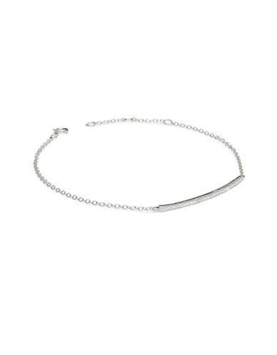 Fine Jewellery Limoges 0.14TCW Pave Diamond Bar 14K White Gold Bracelet-DIAMOND-One Size
