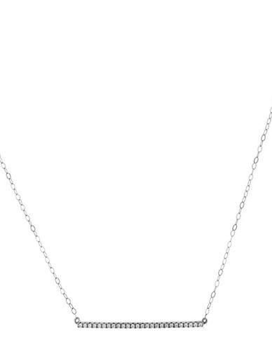 Fine Jewellery Limoges Pave Bar Pendant Necklace with 0.26 TCW Diamonds-DIAMOND-One Size
