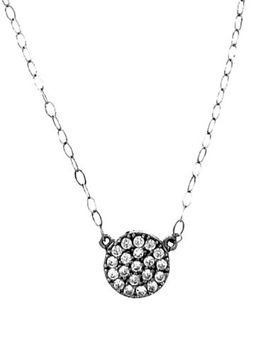 Fine Jewellery Limoges Pave Disc Pendant Necklace with 0.20 TCW Diamonds-DIAMOND-One Size