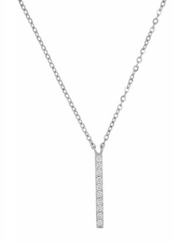 Fine Jewellery Limoges Pave Stick Pendant Necklace with 0.07 TCW Diamonds-DIAMOND-One Size