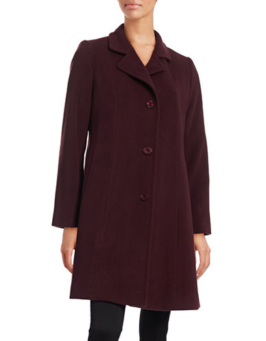 Hiso Notched Collar Wool-Cashmere Walker Coat-RED-6